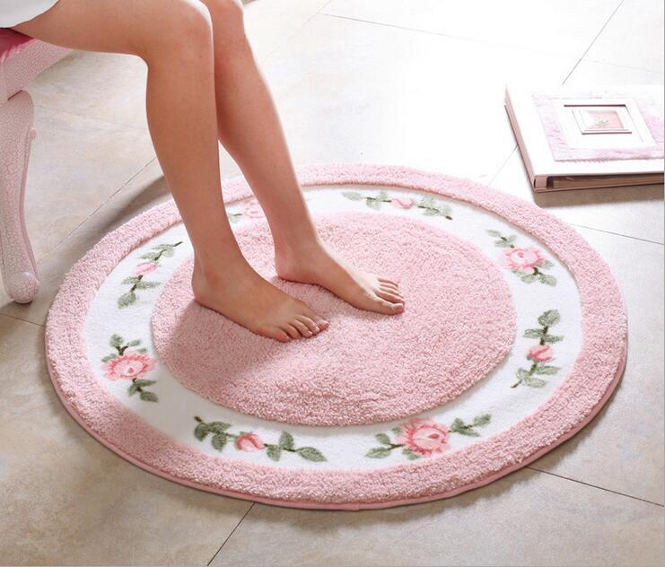 Round Carpet Mat Rug Modern Living Bedroom Area Rugs Anti Slip Floor Rug Mat Washable Soft Bathroom Carpet Mat Home Textile