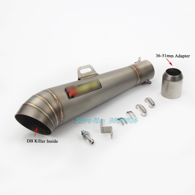 51mm Universal Motorcycle Modified Gp Exhaust Muffler Escape Pipe Fried Tube For sticker CB400 GY6 125CC DB Killer
