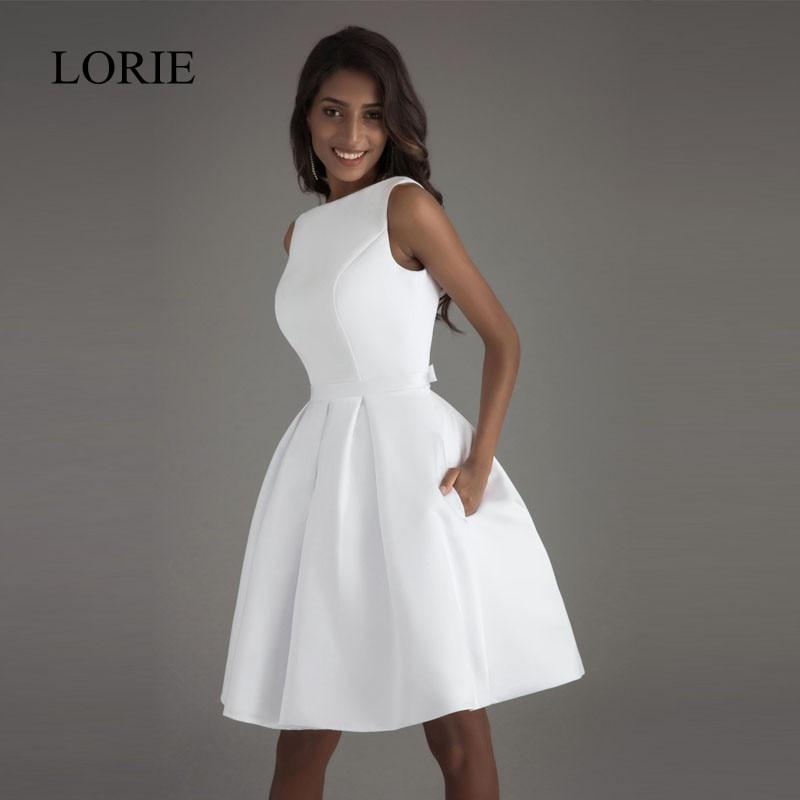 full sexy short wedding dresses 2017 open back robe de mariage simple backless satin bridal dresses