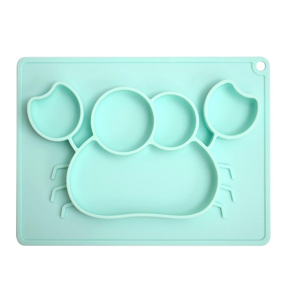 Детская миска Minimat адсорбции дети посуда детская чаша Прочный 2 цвета безопасный одна деталь присоске - Цвет: green