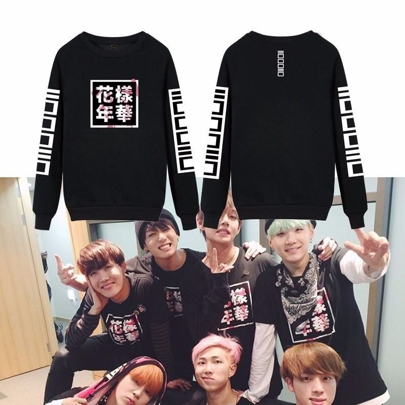 Mainlead ARMY BTS In Bloom Bangtan Boys Pullover Suga Jhope Jungkook V ...