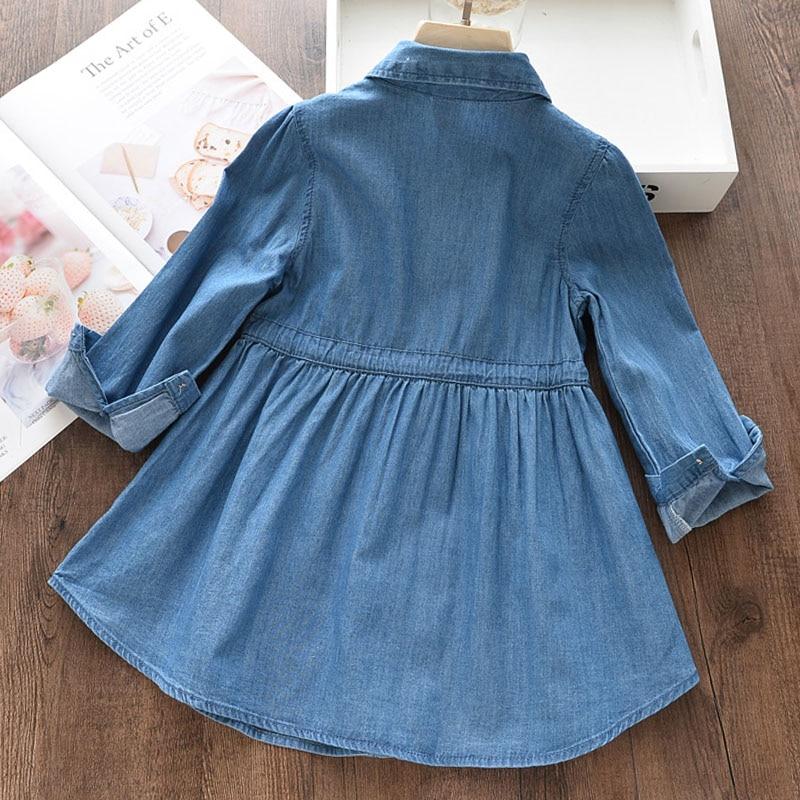 HTB1kZ0CXW67gK0jSZFHq6y9jVXaP Bear Leader Girls Dress 2019 New Autumn Casual Ruffles A-Line Striped Full Sleeve Kids Dress For 3T-7T