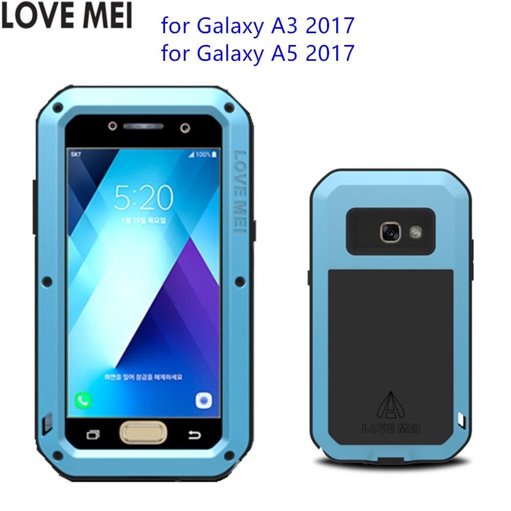 bilder für Für Samsung Galaxy A5 2017 A520 Fall LIEBE MEI Shock Dirt Fest Wasserdicht Metall Rüstung Abdeckung Telefonkasten für Galaxie A3 A320
