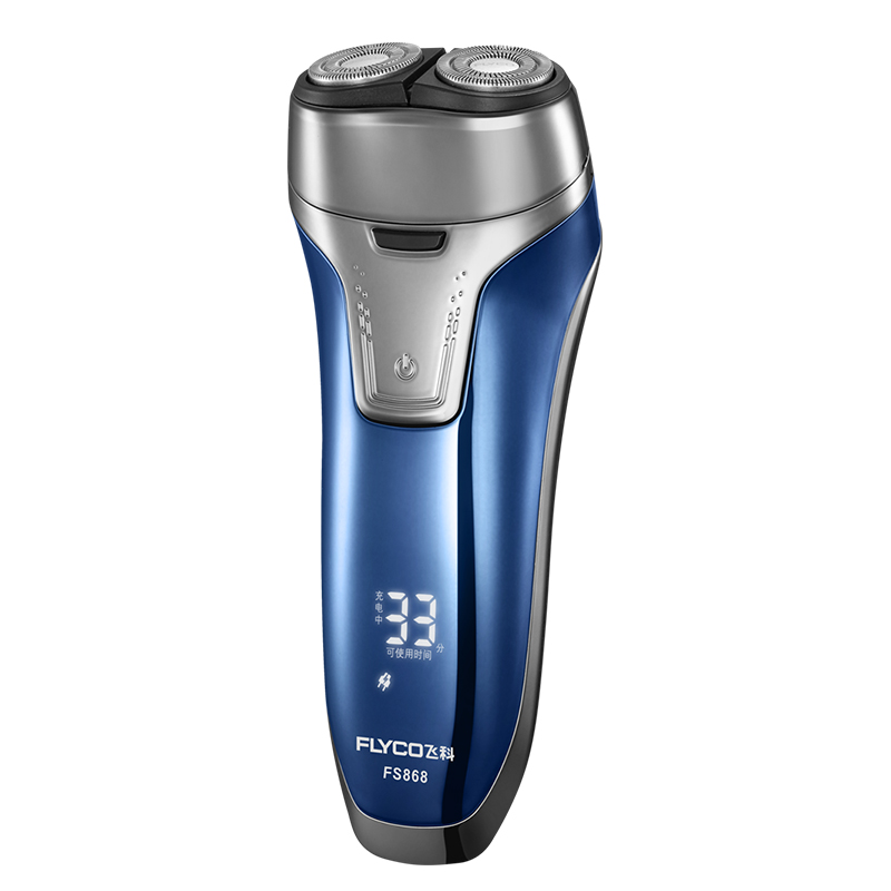 Flyco NEW Professional Voltage(100-240V) Electric Razor 2 independent floating heads Full Body washable Electric shaver FS868 8