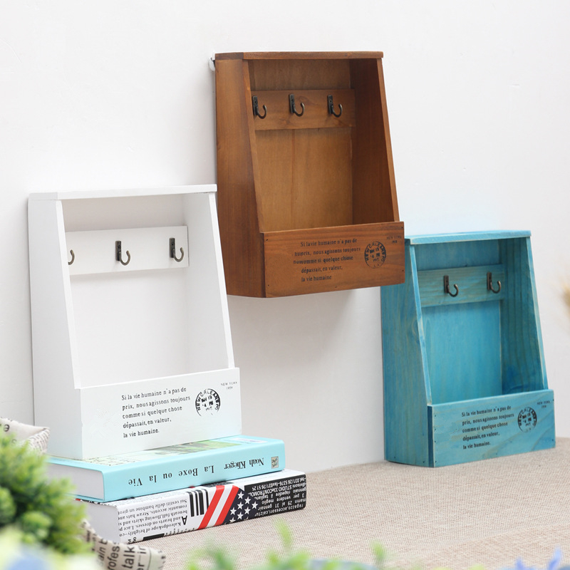 Coloffice 1pc Creative 21*8.5*28cm Wooden Bookends Multifunctional storage Retro key box wall decoration Desktop Bookend supplie coloffice 1pc creative 21 8 5 28cm wooden bookends multifunctional storage retro key box wall decoration desktop bookend supplie