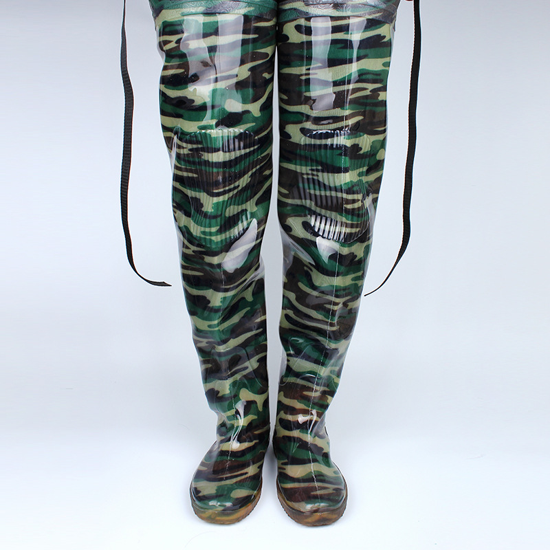 Camouflage Fishing Boots Integrated Seamless Combination 80cm Height Fishing Boots Wader Soft Boot Fishing Tackle B115