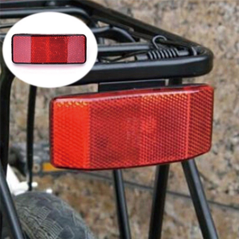Bicycle Plastic Side Light Reflective Taillights MTB Bike Safety Caution Warning Reflector Disc Rear Pannier Racks 30ST08 (4)