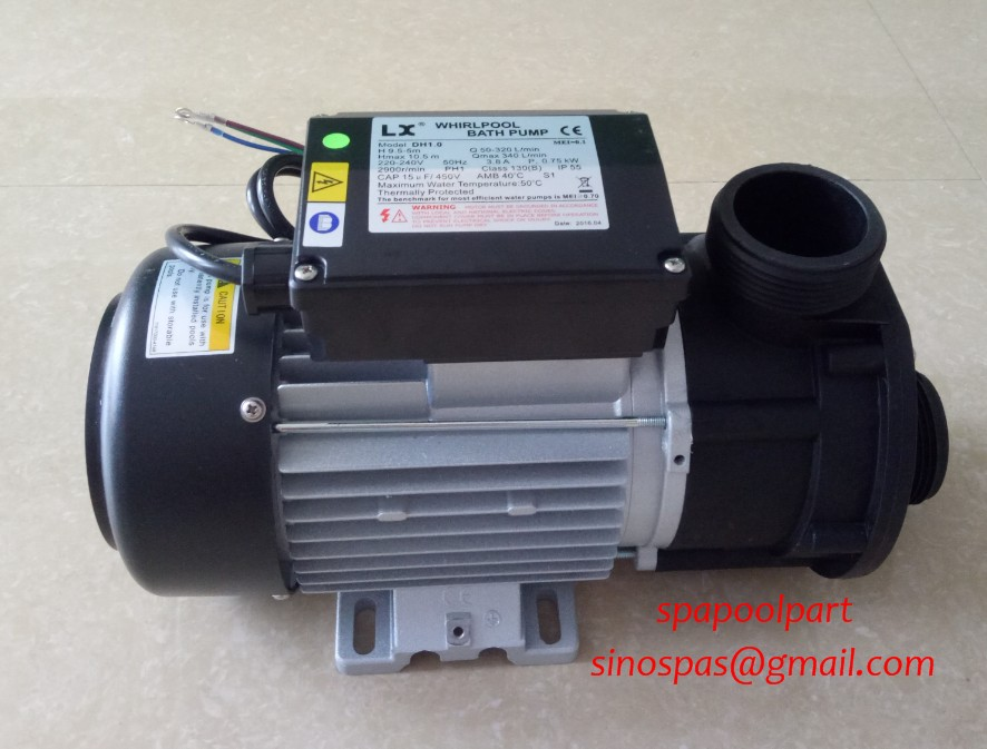 WHIRLPOOL LX DH1.0 hot tub spa bath pump 1HP 750W fit spa circulation pump + global lowest price whirlpool lx dh1 0 hot tub spa bath pump 1hp