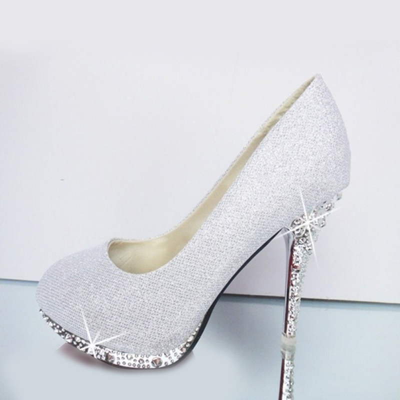 213cf6b3a1e8 2018 Glitter Wedding Shoes Bridal Evening Party Crystal Red Bottom High  Heels Women Shoes Sexy Women s Pumps Bridal Shoes-in Women s Pumps from  Shoes on ...
