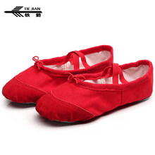 TIEJIAN Professional Dance Shoes For Children Comfortable Leather Head Soft  Bottom Ballet Shoes Adult Yoga Gym e626ff9c67d3
