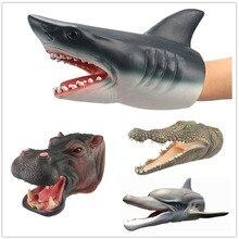 Sea Life Marine Animals Whale Shark HIPPO DOLPHIN CROCODILE Model Action Figure PVC Ocean Animal Dolls Toys For Children Gift