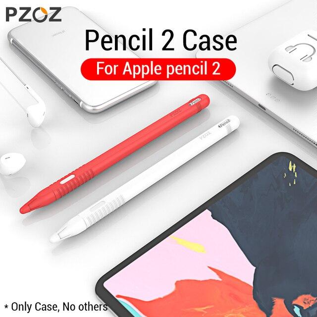 PZOZ para Apple Pencil 2 funda para iPad Pro 2018 estuche para lápices tableta táctil lápiz funda protectora portátil suave caso del silicio del