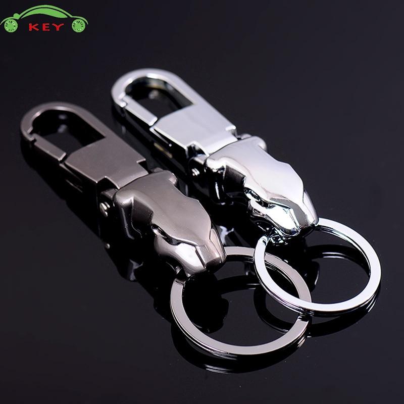 Leopard Head Metal Car Keychain Auto Motorcycle Key Ring For Jaguar Jeep Ford Hyundai Mercedes Audi BMW Daihatsu Volvo Keyring