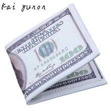 US Dollar Bill Wallet Brown Leather Wallet Bifold Credit Card Photo Dec 9