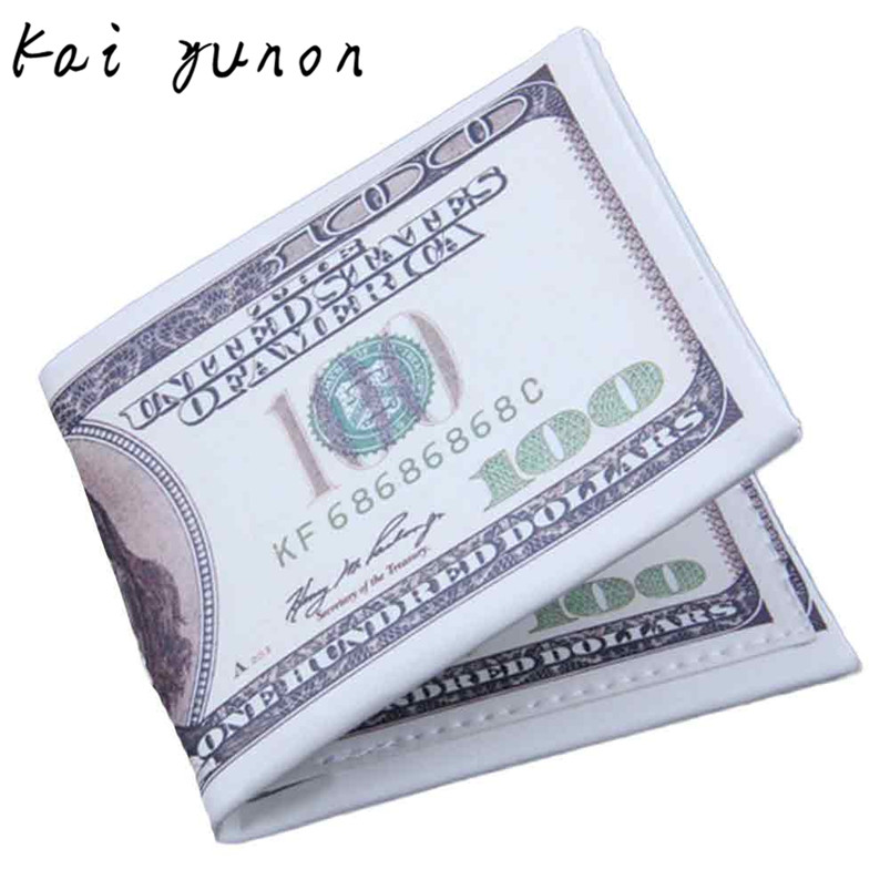 US Dollar Bill font b Wallet b font Brown Leather font b Wallet b font Bifold
