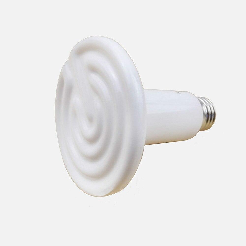150W good price pet heating lamp for  Tortoise / lizard / Snake / spider pet infrared ceramic emitter heating light bulb e27 lamp bulbs 80mm 25 40 50 60 75 100 150w for reptile pet brooder 110 220v