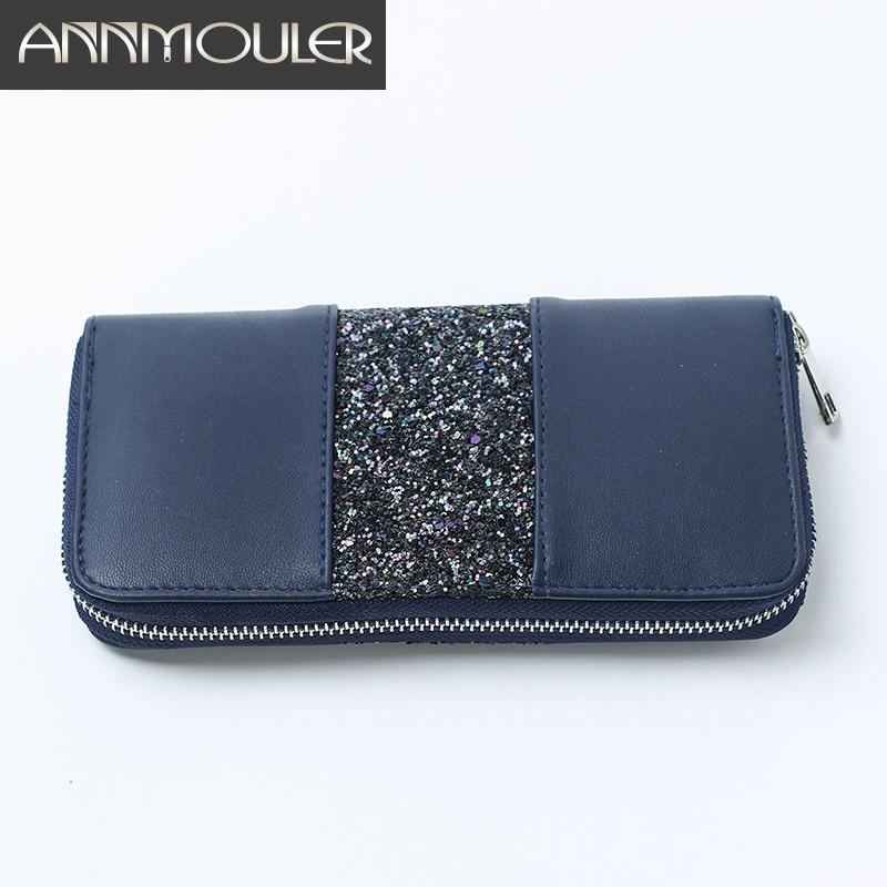 2016 розкішний бренд жінок гаманець високої якості пу шкіряні довгий гаманець лоскутної блискавки гаманець гаманці Multi-кишенькові картки