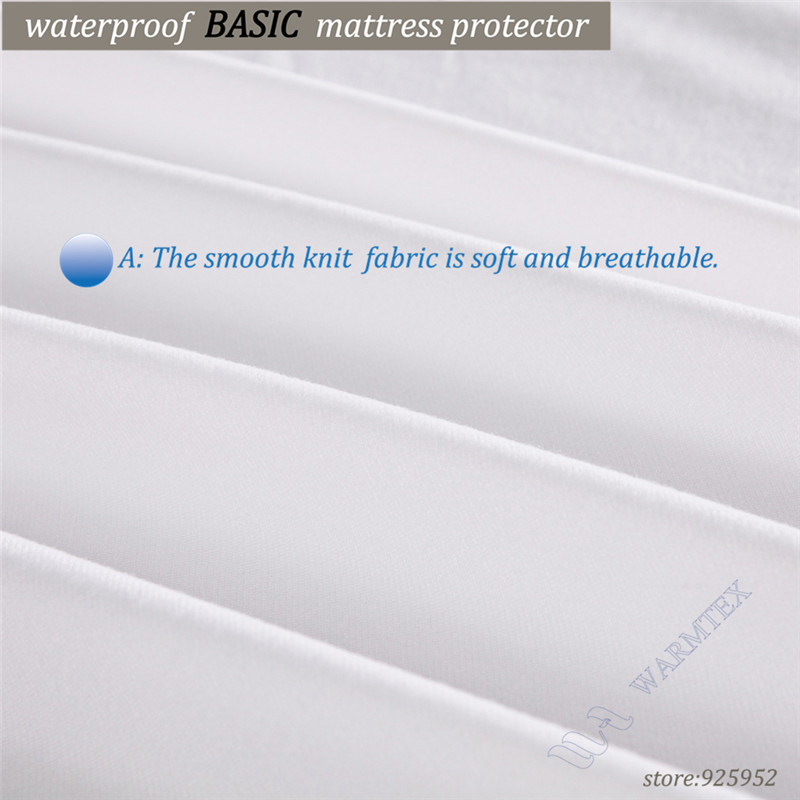 Russian High quality Customized Basic knit Waterproof Mattress Cover/ Mattress Protector 150x200x35ccm fits matress 20cm to 30cm