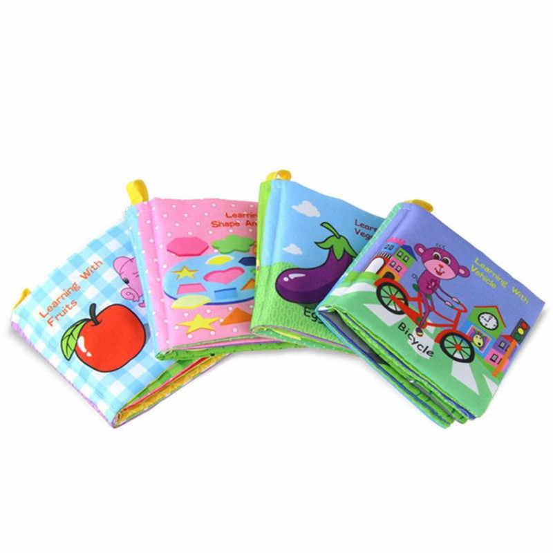 Оптовая Доставка Новая мягкая ткань развития ребенка интеллект узнать изображение познай книга красочные фотографии S23JUN5