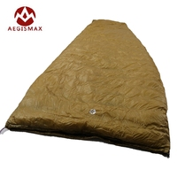 Aegismax Fan Shape With Sack Sleeping Bag White Goose Down Ultralight Outdoor Camping Hiking FP800 Lengthened