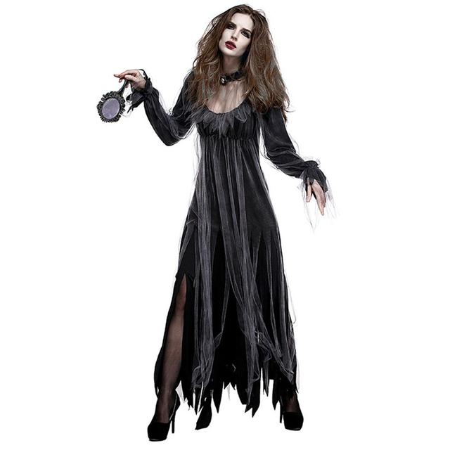 Halloween New Horror Deluxe Cemetery Bride Costume Ghost Bride