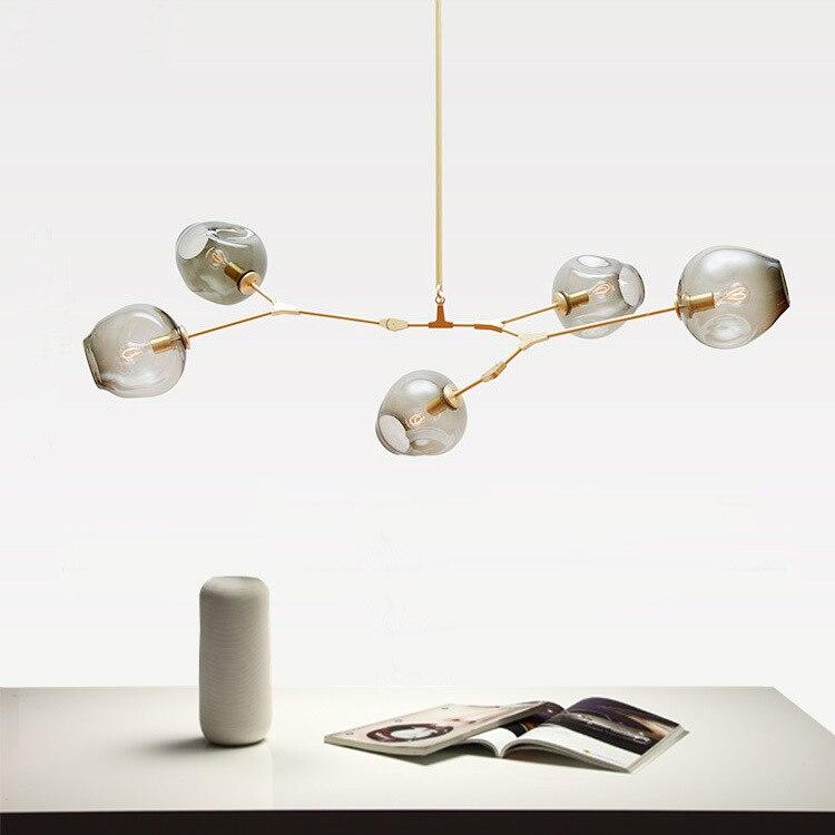 Nordic Personalized Molecular Glass Pendant Lamp Modern Minimalist Glass Bubble Ball Suspension Luminaire Pendant Lamp Fixtures|lamp fixtures|suspension luminaire|glass bubble ball -