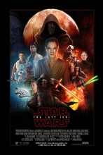 Episode VIII The Last Jedi Art Silk Poster