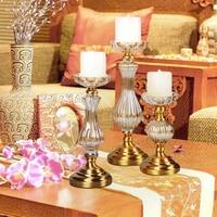Modern crystal candle holders golden Candlestick candle holder wedding centerpieces faroles para velas lantern home decoration