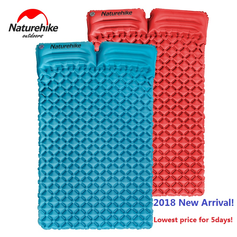 Naturehike factory store Ultralight Sleeping Mattress with Pillow outdoor Camping Moisture-Proof Inflatable egg slot Mat Air Bed durable thicken pvc car travel inflatable bed automotive air mattress camping mat with air pump