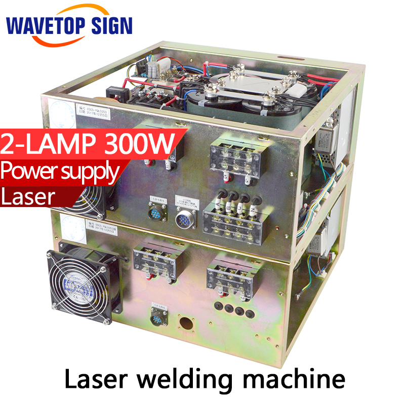 Laser welding machine dedicated power supply touch screen control input 3phase 380v  two layer box 2 bulbs  two yag lamp 300w