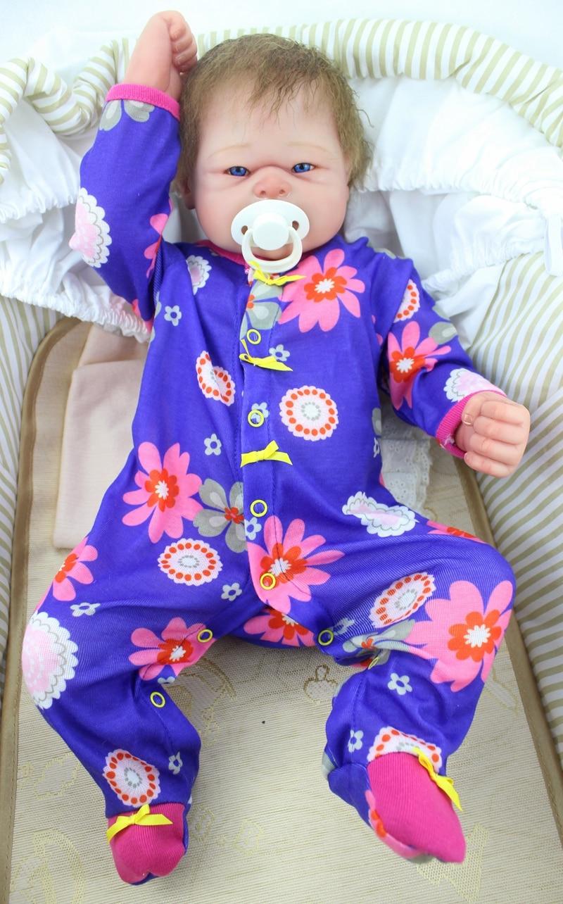 23 pouces Full silicone reborn bébé poupées Jouet Bébé-Reborn réaliste lol d'origine vinyle nouveau-né se baigner infant toddler Brinquedos jouet