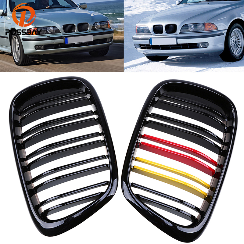 POSSBAY Car Front Center Wide Kidney Grille Grill for BMW 5-Series E39 528i/530d/530i Touring 1997-2004 Racing Grill Car StylingPOSSBAY Car Front Center Wide Kidney Grille Grill for BMW 5-Series E39 528i/530d/530i Touring 1997-2004 Racing Grill Car Styling
