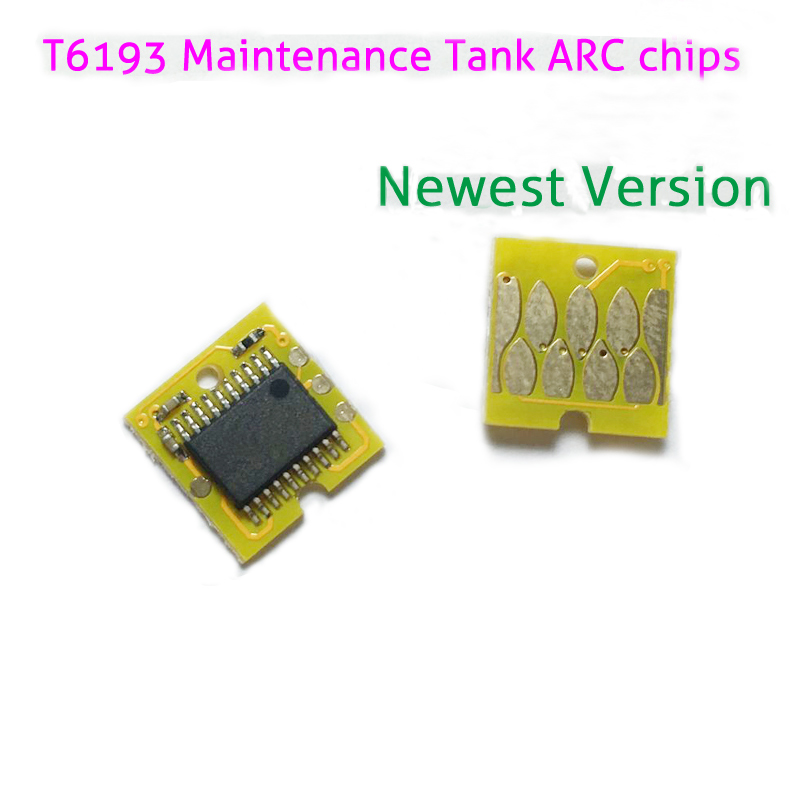 Auto Reset Maintenance Chips T6193 For Epson Surecolor T3000/T5000/T7000/T3070/T5070/T7070 /F6070/F7070/F6000 Hot Sale for epson t6193 maintenance tank resetter for sc t3000 t5000 t7000 t3070 t5070 f6070 1pcs waste ink tank for free