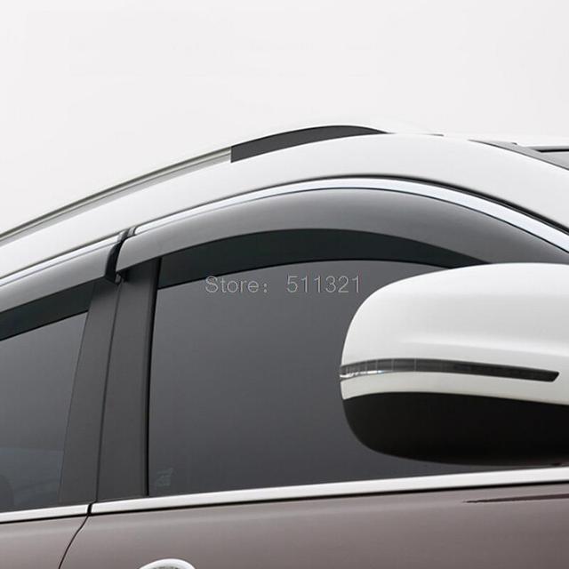 Fit For Jeep Cherokee 2014 2015 2016 Car Wind Deflector Visor Rain Sun Protector Guard Vent Window Visors 4Pcs Awnings Shelters