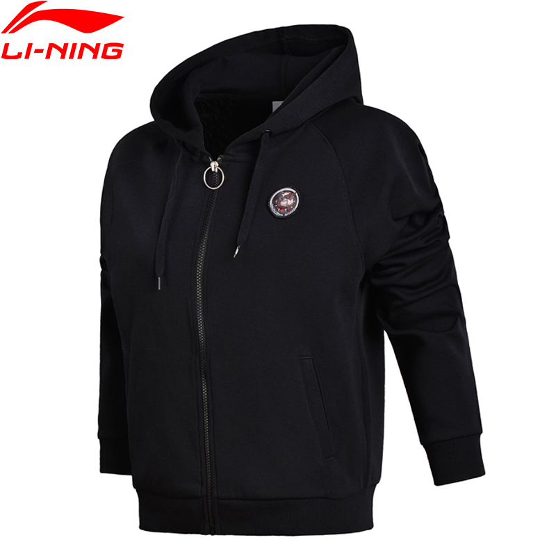 Li-Ning New 2018 Women Coats FZ Knit Hoodie Sweaters Zip Regular Fit Comfortable Jacket Fitness Li Ning Sports Sweater AWDN076