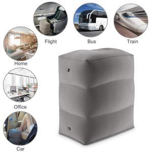 Image 2 - Almohada inflable de 3 capas para reposapiés de viaje, reposapiés para coche, cojín ecológico para coche y avión