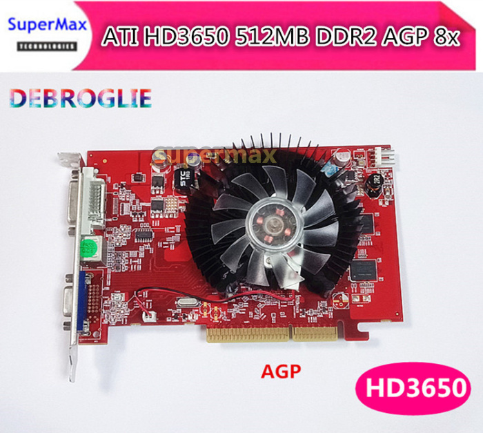 Free Shipping New HD3650 512MB DDR2 PCI E VGA DVI S terminal independent graphics card