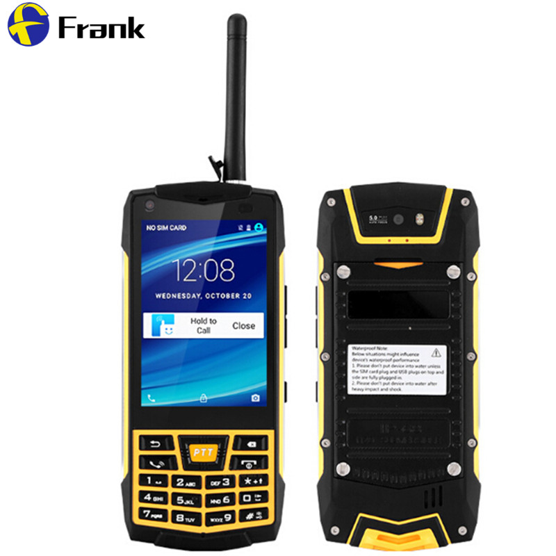 Oiginal N2 Android 6.0 Smartphone À Prova de Choque À Prova D' Água IP68 Walkie Talkie 50 km NFC GPS WIFI Quad Core 1 GB 5MP WCDMA IP68 telefone