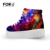 Novidade galaxy star padrão sapatos casuais para as mulheres sapatos de plataforma baixa de 4 cm das senhoras apartamentos sapatos casuais elevador sapatos zapatillas