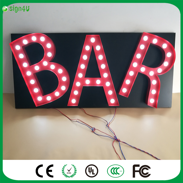 LED sign Letters Marquee Vintage alphabet Indoor Decoration wall lamps for wedding/KTV//hotel/bar Night lights/holiday lamp