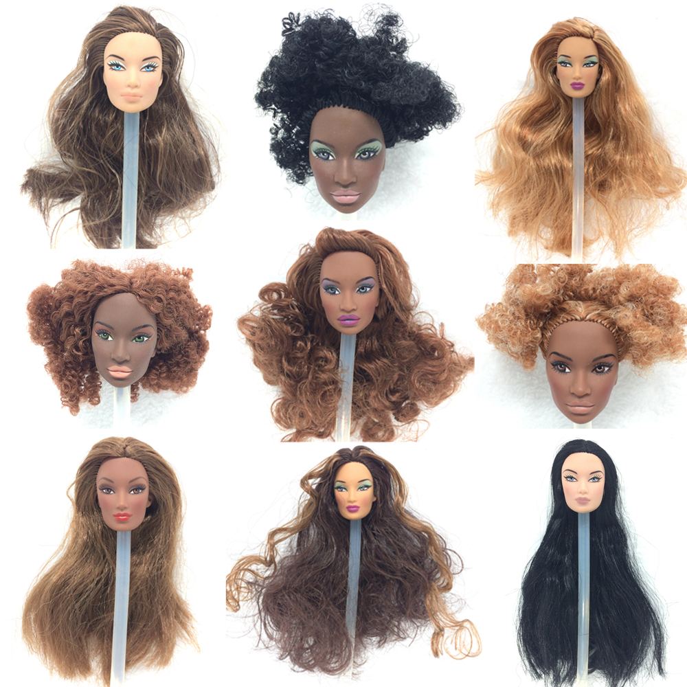 NK three Set/Lot  Randomly  Trend Royalty Unique Doll Integrity Hair Doll Head  For FR Dolls 2002 Restricted Version Assortment