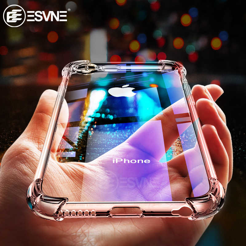 Luxe Shockproof Transparant Siliconen Telefoon Case Voor iPhone X XR XS 11 pro Max Coque iPhone 8 7 6 6S Plus case bescherming Cover