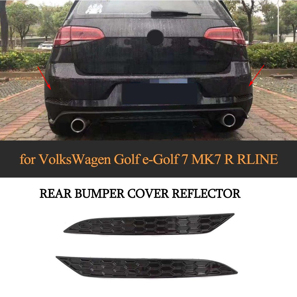 For Volkswagen VW Golf MK7 7.5 Base GTI R Rline 14 18 Reflective Strips 2PCS/SET ABS Rear Bumper Reflector Lamps Rear Light