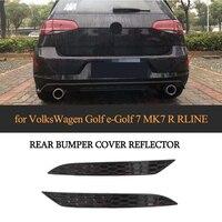 For Volkswagen VW Golf MK7 7.5 Base GTI R Rline 14 18 Reflective Strips 2PCS/SET ABS Rear Bumper Reflector Lamps Rear Light