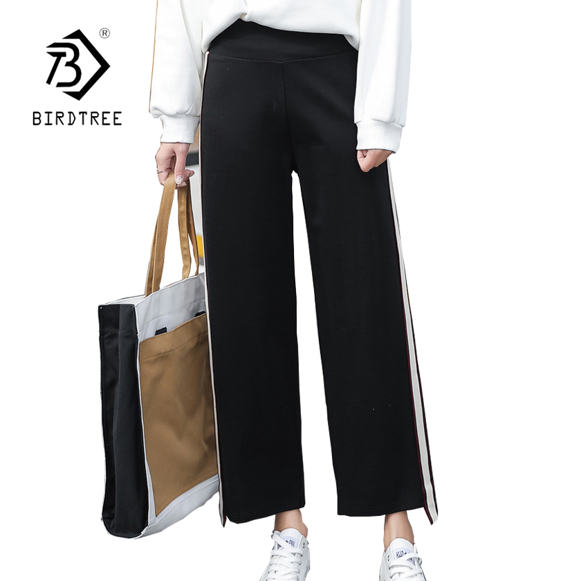 Bottoms Women's Clothing Objective Womens Solid High Waist Wide Leg Pants 2018 New Arrival Spring S-3xl Plus Size Casual Female Loose Pants Hots Sales B84412f Delicacies Loved By All