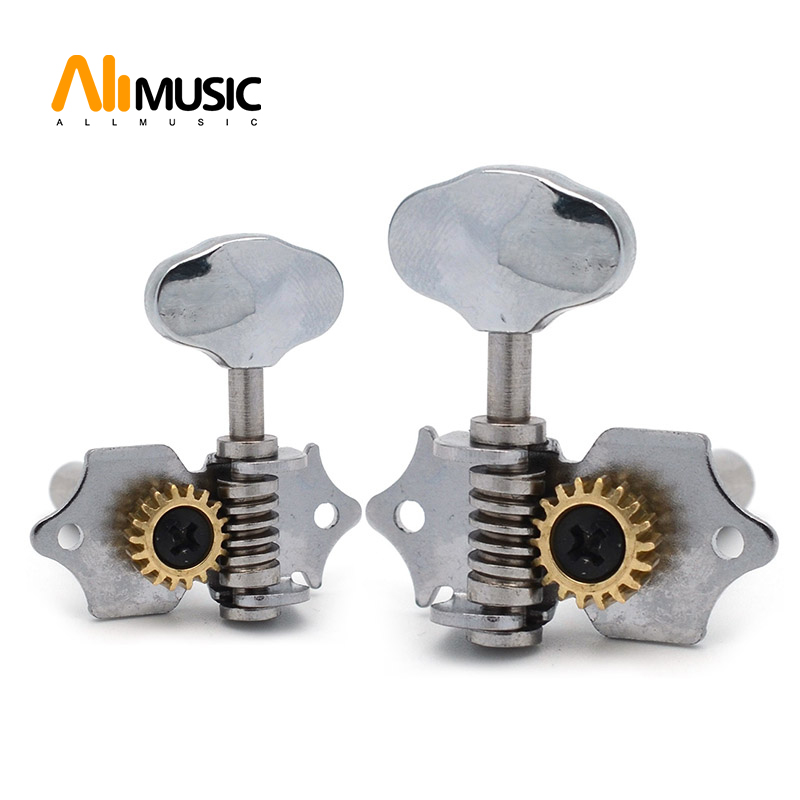 6 pcs chrome 18 1 open gear uk guitar locking string tuners tuning pegs machine head middle hole. Black Bedroom Furniture Sets. Home Design Ideas