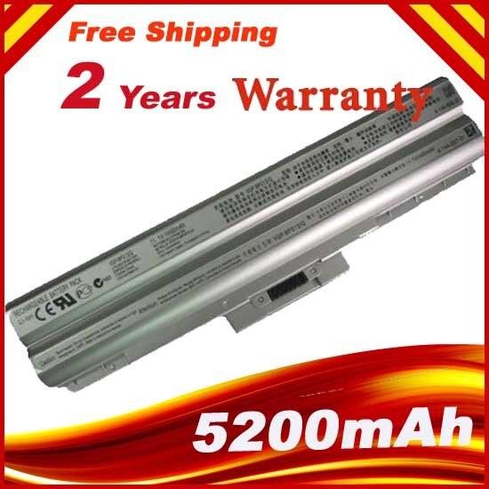 5200mAh Silver Battery For Sony VGP-BPL13, VGP-BPS13, VGP-BPS13/B, VGP-BSP13/S, VGP-BPS13A/B, VGP-BPS13A/S