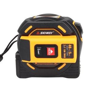 Image 2 - Sndway laser medidor de distância range finder 40 m 60 m laser fita medida digital retrátil 5m laser rangefinder régua ferramenta de pesquisa