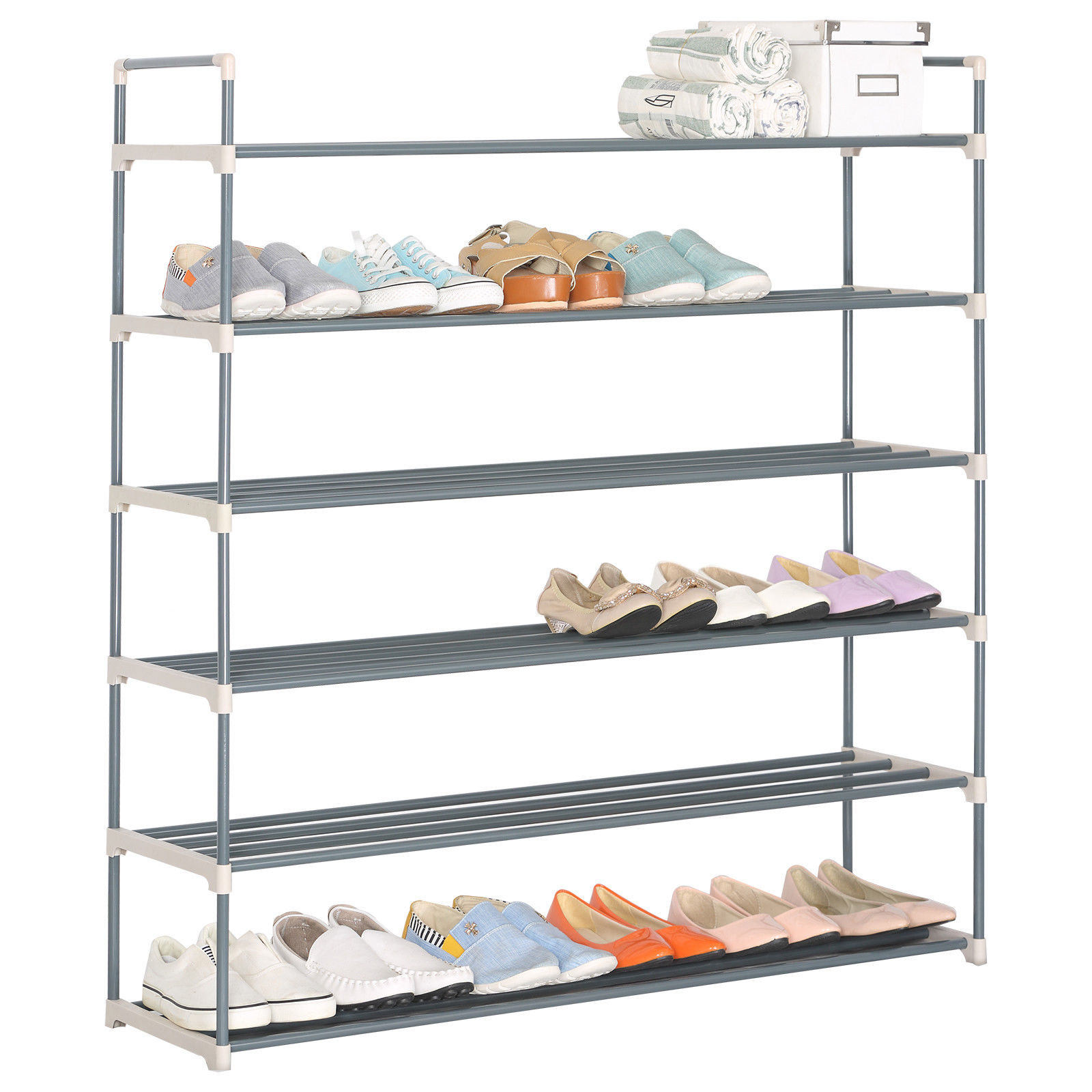 Shoe Tower Rack Portable Practical 36 Pair 6 Tiers Layer