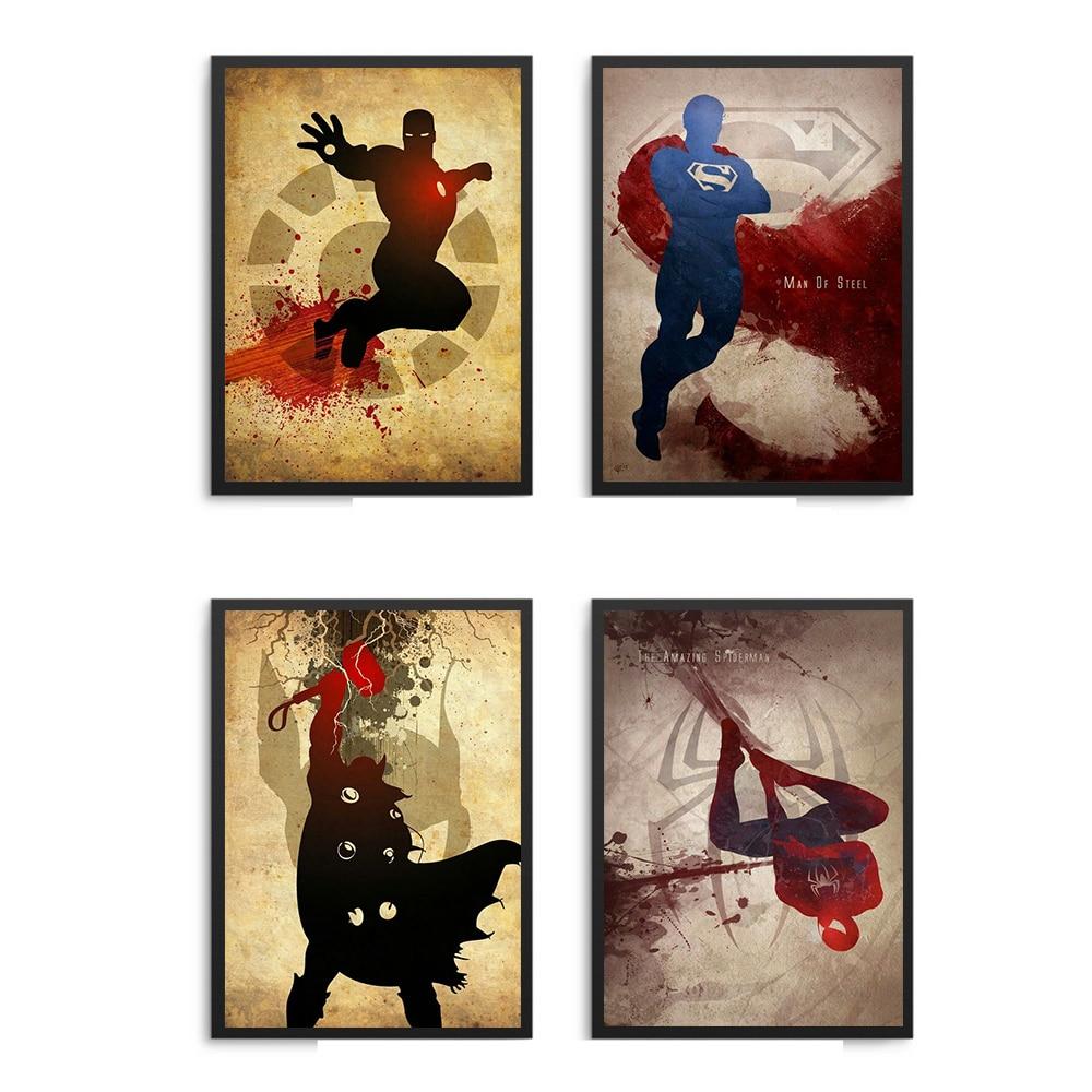 Marvel Comics Iron Man Hulk Captain America  Thor Hawkeye Black Widow The Avengers Movies Superheroes Poster Wall Art Home Decor